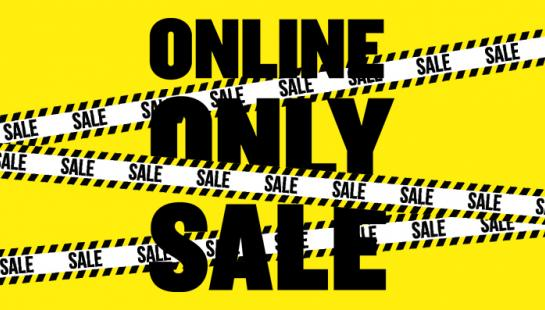 online only SALE widget